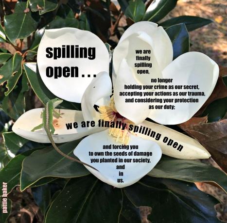 spilling open