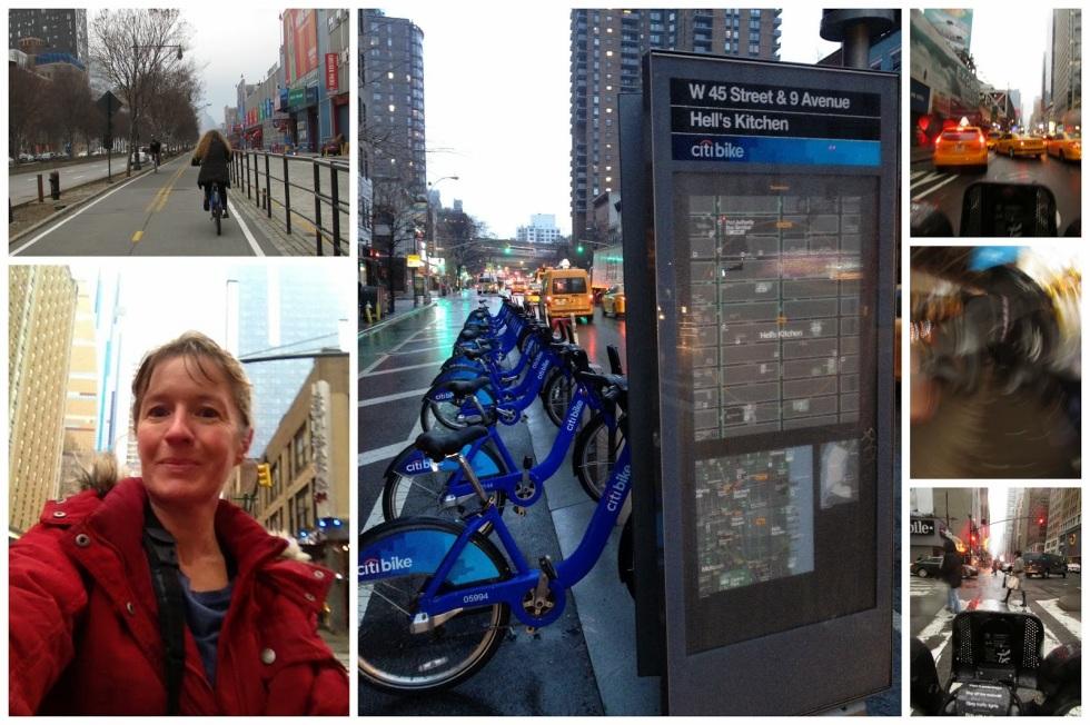NYC bike collage